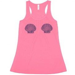 Modern Day Mermaid Sea Shell Crop