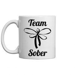 Team sober coffee cup