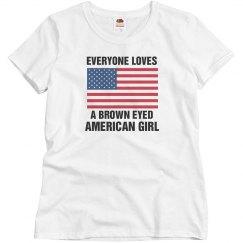 Brown Eyed American Girl