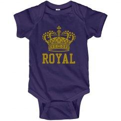 Royal Purple Baby Onesie