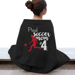 proud soccer mom blanket
