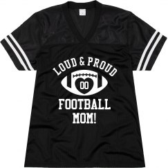 Custom Player Number Football Mom