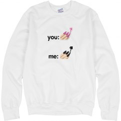 You vs Me (Nails) Pullover