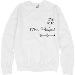 I'm with Mrs Perfect matching Couple Sweater