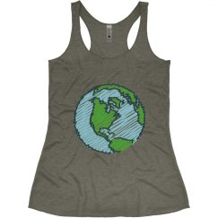 Planet Earth Tank Top