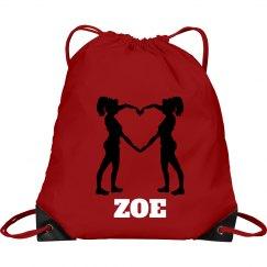 Zoe cheer bag