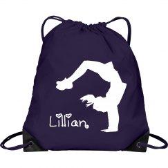 Lillian cheerleader bag