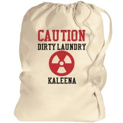 Caution Laundry Bag