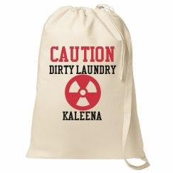 Caution Laundry Bag