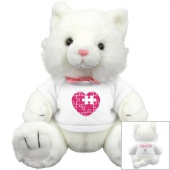 Autism Puzzle Heart Kitty