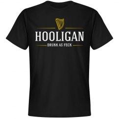 Drunk As Feck Hooligan Beer Logo