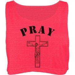 Jesus Cross Pray Crop Tank