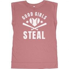 Good Softball Girls Steal