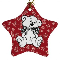 White Bear Red background