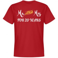 Mr & Mrs for 20 years