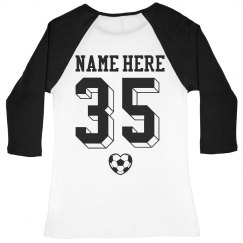 Custom Soccer Raglan Shirt