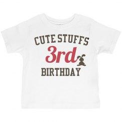 Cute stuffs 3rd birthday
