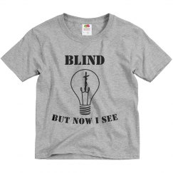 Youth Blind Tee Grey