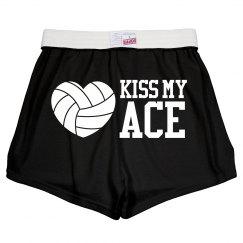Kiss My Ace Volleyball Wordplay Girl