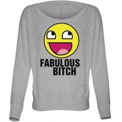 Fabulous Bitch Emoji Off Shoulde