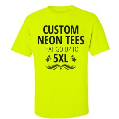 Custom Plus Size 5XL Neon Shirts