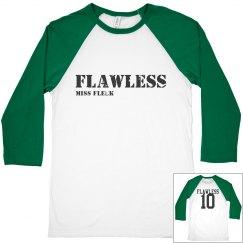FLAWLESS half basebal tee