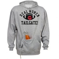 Real Women Tailgate Football Tailgating Hoodie