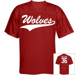 Wolves custom sports jersey