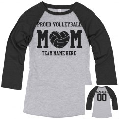 Proud Custom Volleyball Mom