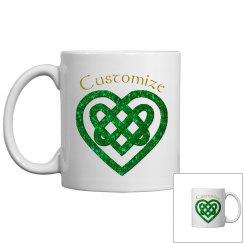 Personalized Celtic Heart Mug