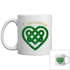 Personalized Celtic Heart Mug