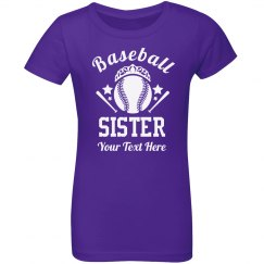 Baseball Sister Rhinestones