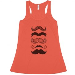 Multi-Mustache Flowy Tank