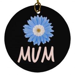 Floral Mum Ornament