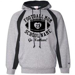 Warm Football Mom Hoodie With Custom Text