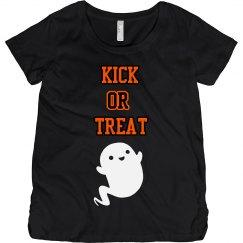Kick or treat Maternity tee