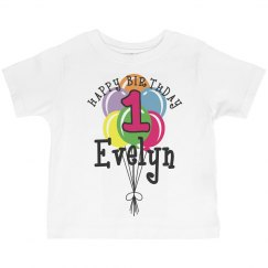 1 year old! Evelyn