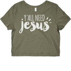 Just Need Jesus Religious Crop