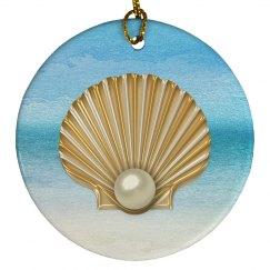 AbstractSea GoldenPearl Seashell