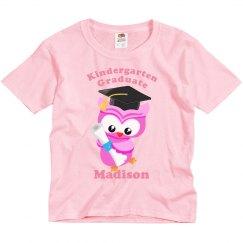 Kindergarten Graduate Owl Pink