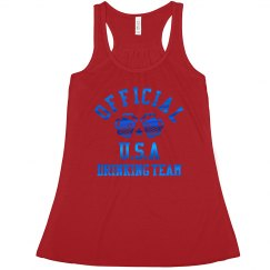 Blue Metallic USA Drinking Team