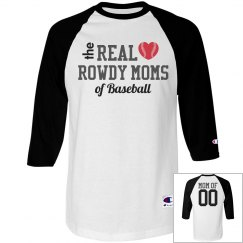 The Real Moms of Baseball Shirt With Custom Name Number
