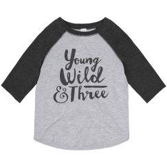 Wild 3rd Birthday Shirt
