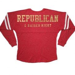 Metallic Republican Raised Right