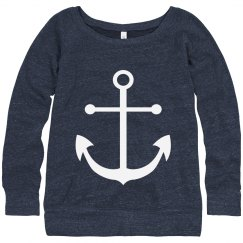 Anchor Slouchy Sweatshirt