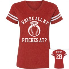 Sporty Baseball Bachelorette Tee for the Bride to Be