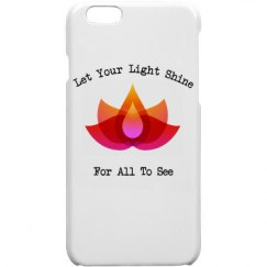Let Your Light Shine Polymer iPhone 6 Case White