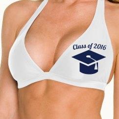 Navy Graduation Cap Class of
