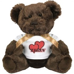 Red Hearts Brown Teddy