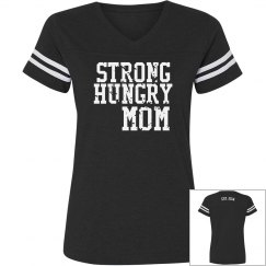 Strong Hungry MOM Vintage Sports Tee
